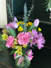 Pretty with Pastels Vase Arrangement