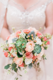 Princess and the pea Bridal bouquet