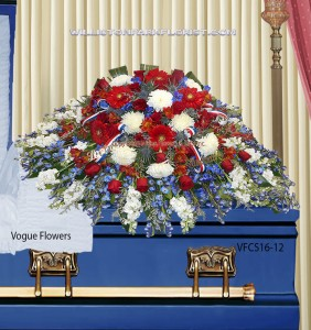 Pride Of Country and Family Sympathy Casket Spray