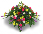 Primary Color Fresh Flower Casket Spray