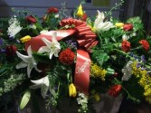 Summer Sensation Casket Spray Funeral Flowers