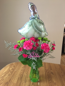 princess frog vase arrangment