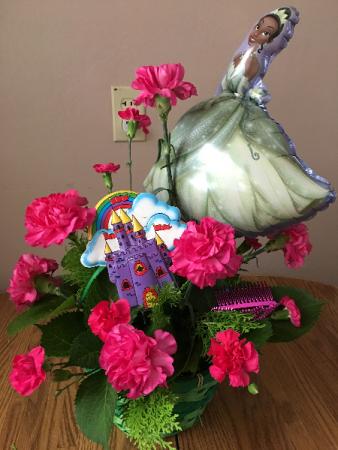 princess tiana basket arrangment