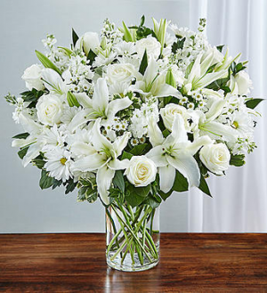 Princess White Vase Arrangement in Lebanon, NH | LEBANON GARDEN OF EDEN FLORAL SHOP