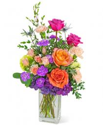 Prismatic Dream Flower Arrangement