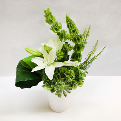 PRISTINE WHITE  White Lily Ceramic Floral