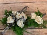 Prom 2020 White Rose Wrist Corsage