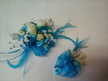 prom corsage and boutunniere set of corsage and bout.
