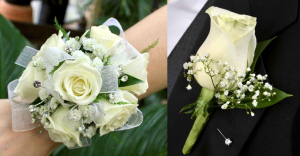 Prom Corsage Boutonniere Combo Special Pricing: Must be Ordered 1 Week in Advance of Your Event in Wake Forest, NC | Distinctive Designs