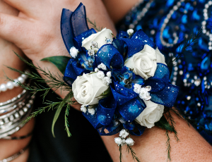 PROM CORSAGE Call for Custom Floral Designs 562-944-5814 in Whittier, CA | Rosemantico Flowers