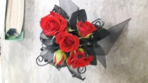 Red Rose Glam Prom Corsage