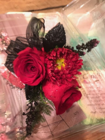 Prom corsages roses/filler