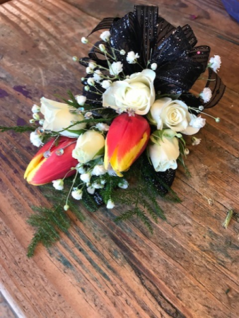 Prom corsages tulips/roses