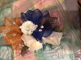 Prom corsages with rinestones