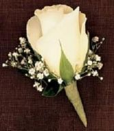BOUTONNIERE Rose Boutonniere