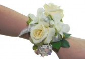 Prom Special #1  White Assorted Mixed Flower  Wrist Corsage