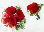 Prom Special  Varying Colors Corsage & Matching Boutonniere