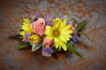 Prom Special #3 Colorful Mixed Flower Wrist Corsage & Boutonniere