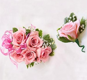 Prom Special #3 Corsage & Matching Boutonniere