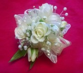 PROM WHITE ROSE CORSAGE Pick your color