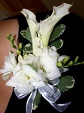 ALL WHITE FLORAL Prom Corsage