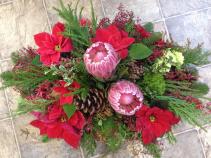 Protea Christmas Christmas Centerpiece