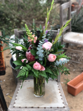 Protea & Garden Rose Arrangement