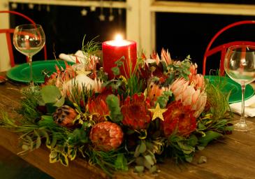 Protea Wreath  Unique Christmas centrepiece