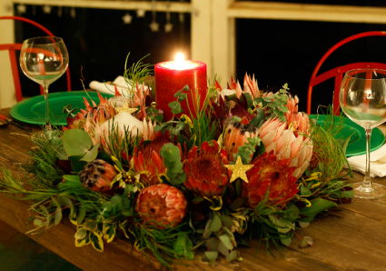 Protea Wreath  Unique Christmas centrepiece