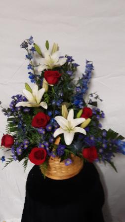 proud glory basket arrangement