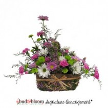 Provence Lavender Basket Basket of Flowers