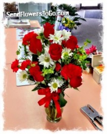 PS I Love You with Red Roses Bouquet