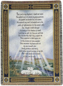 Carried to Heaven: Psalm 23 Tapestry Throw