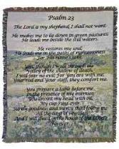 Throw/Psalm 23 (DB27) Sympathy Gift