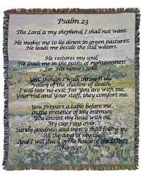 Throw/Psalm 23 (DB27) Sympathy Gift