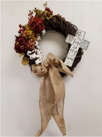 Hydrangea and Cotton Wreath Gifts