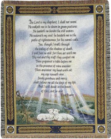 Psalms 23 Throw/Blanket