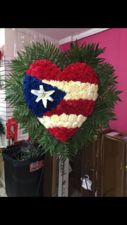 Puerto Rican Flag Funeral Flowers Custom Funeral Flowers in Bronx, NY | Bella's Flower Shop