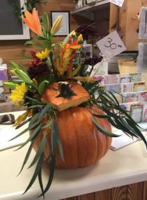 Pumpkin Style Fresh Flowers