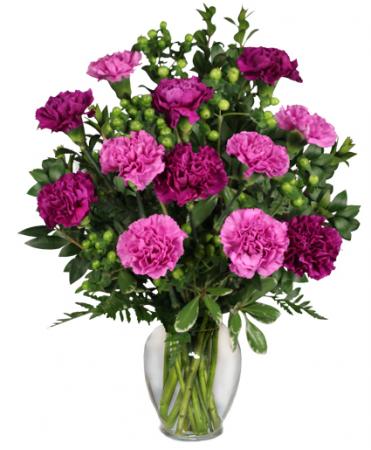 Pump Up The Purple Carnation Bouquet