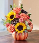 Pumpkin and Posies  Keepsake Pumpkin
