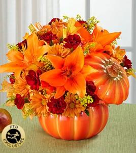 Pumpkin Arrangement  in Kitchener, ON | KITCHENER ONTARIO FLORIST