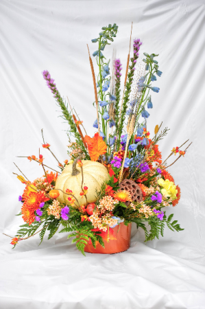 Pumpkin Arrangement  in Vincennes, IN | ORGAN FLORIST & GREENHOUSES