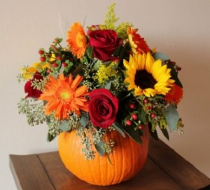 pumpkin-arrangement Fresh Arrangement in Newmarket, ON | FLOWERS 'N THINGS FLOWER & GIFT SHOP