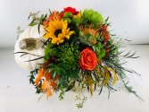 Pumpkin Bouquet Container Arrangement