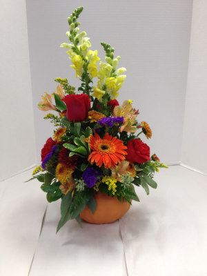 Pumpkin Bouquet Arrangement in Brenham, TX | THE FLOWER MARKET