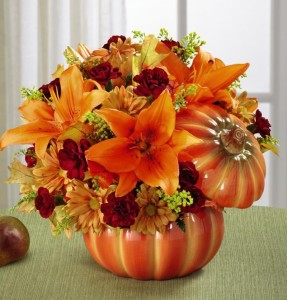 Pumpkin Celebration Arrangement in Lexington, NC | RAE'S NORTH POINT FLORIST INC.