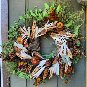 Pumpkin Fall Wreath  in Fairview, OR | QUAD'S GARDEN - Home to Trinette's Floral