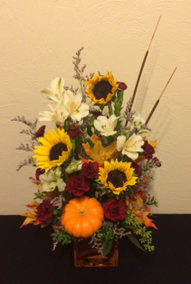 Pumpkin Harvest Fall Arrangement