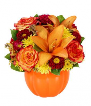 Pumpkin Harvest Fall Arrangement in Nampa, ID | FLOWERS BY MY MICHELLE